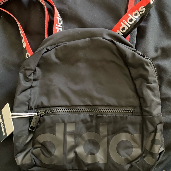 Black adidas small backpack new with tag